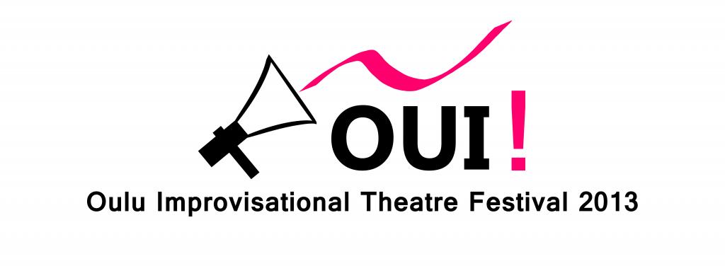 OUI Oulun improvisaatioteatterifestivaali 2013 logo leveä WP EN